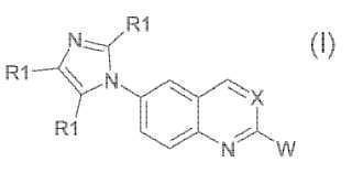 Derivados de quinolinas y 6-1H-imidazo-quinazolina, agentes antiinflamatorios y analgésicos potentes nuevos.