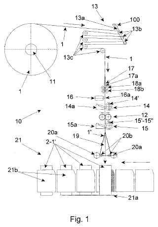 Dispositivo para formar fundas de lámina tipo manga a partir de una tira plana continua de material de lámina tipo manga.