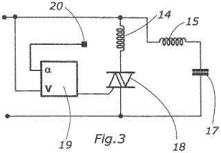 Suministro de potencia electrónica para un motor síncrono con rotor de imán permanente que tiene dos pares de polos.