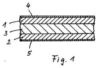 Material de placa ligado por elastómeros y proceso para su producción.