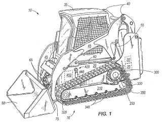 Vehículo de orugas que tiene sistemas de impulsión y suspensión.