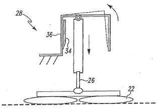 Dispositivo para el ajuste de la presión entre un instrumento de limpieza de suelo y un suelo.