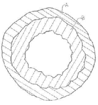 Una membrana de fibra hueca de material compuesto reforzada por trenzado.