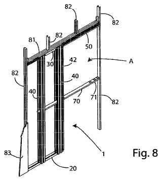 Contramarco modular para puertas correderas escamoteables y kit y método de ensamblaje relevantes.