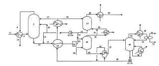 Eliminación de gases ácidos en un sistema de generación de energía por gasificación con producción de hidrógeno.