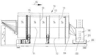 Procedimiento y dispositivo para el tratamiento por vía húmeda de piezas de colada de ropa.