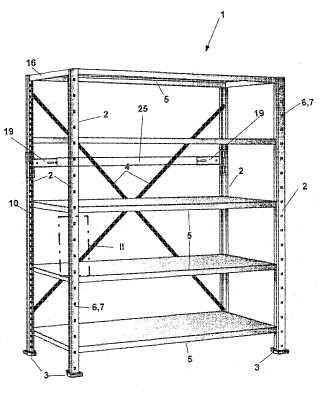 Sistema de estantes para guardar y archivar objetos.