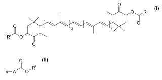 Procedimiento para la obtención de disoluciones de derivados de astaxantina.