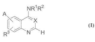 Análogos de quinazolina como inhibidores de los receptores de la tirosina-quinasa.