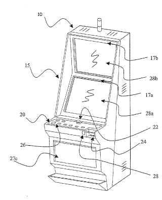 Bastidor de puerta para máquina de juegos de azar.