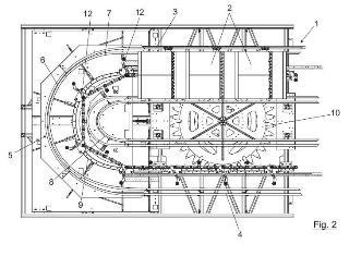 Sistema de volteo para sistema de transporte por banda.