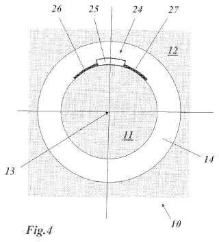 Vehículo de inspección para inspeccionar un entrehierro entre el rotor y el estátor de un generador.
