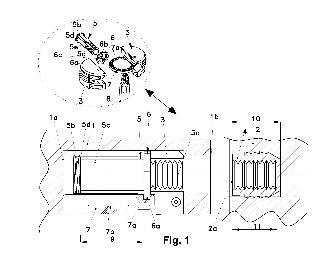 Dispositivo de unión entre dos paneles de un mueble.