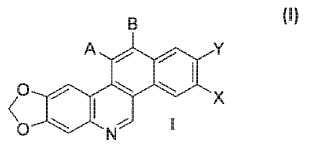 Derivados de metilendioxibenzo [I]fenantridina usados para tratar el cáncer.