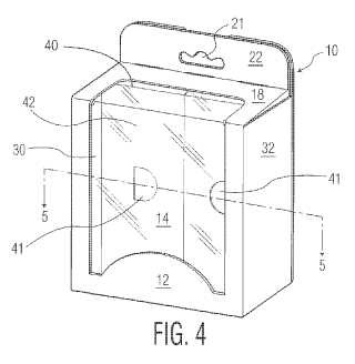 Caja de cartón de presentación para una pluralidad de productos.