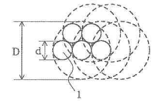 Compuesto de cordón de acero-caucho y neumático que lo utiliza.