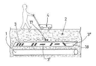 Sistema de detección, adaptado para la identificación y para el seguimiento de canalizaciones enterradas o de otros cuerpos enterrados en el suelo o embebidos en unas obras de ingeniería civil.