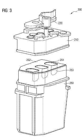 Dispositivo de cierre para un recipiente para reactivos.