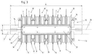 Equipo de amortiguamiento para el amortiguamiento de vibraciones de elementos estirados longitudinalmente.