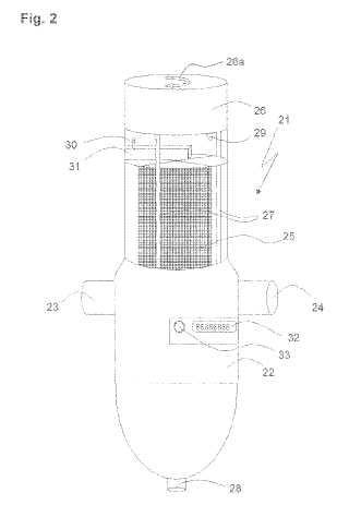 Procedimiento para el funcionamiento de un filtro lavable a contracorriente.