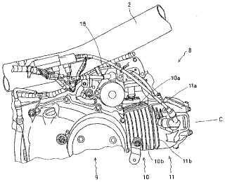Motor de combustión interna para motocicleta.