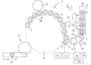 Procedimiento y dispositivo para imprimir recipientes.