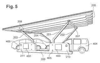Cubierta de aparcamiento equipada con paneles solares fotovoltaicos.