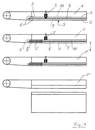 Prensa y procedimiento para laminar piezas de trabajo esencialmente en forma de placa.