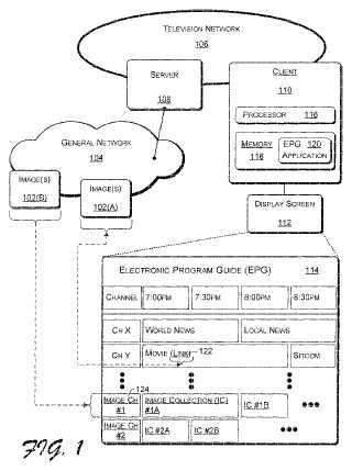 Presentación especializada de medios mediante una guía electrónica de programas (EPG).