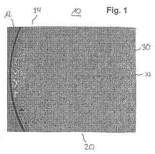 Dispositivo de filtro con fibras huecas distribuidas de manera heterogénea y procedimiento para su fabricación.