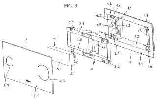 Dispositivo para el accionamiento eléctrico de un depósito de descarga de inodoro.