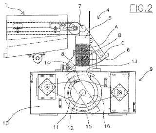 Máquina para la fabricación de paquetes de espaguetis o de otro tipo de pasta de forma alargada multicolores.