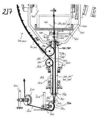 Dispositivo y procedimiento para trenzar un material alargado bobinado.