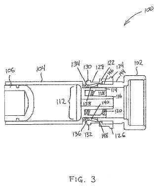 Depósito de infusión con características de conector de empuje y/o accesorios para el mismo.
