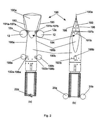 Un dispositivo para disponer una envoltura de lámina con forma de manguito alrededor de un objeto, así como un elemento de expansión para su uso en dicho dispositivo.