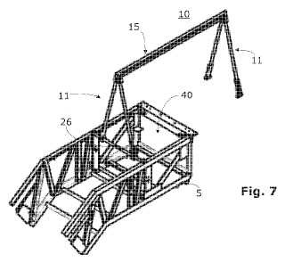 Dispositivo de pórtico para la utilización en el montaje o mantenimiento de piezas pesadas de una instalación de transporte.
