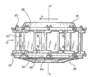 Sistema de anillo de soporte y de montaje de cabezal de corte.