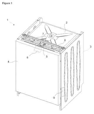 Un lavavajillas con puerta que se abre automáticamente.