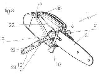 Dispositivo de apriete con brazo de maniobra escamoteable y aparato que comprende un dispositivo de este tipo.