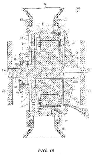 Mecanismo, unidad de motor-mecanismo, vehículo, generador con un mecanismo y elemento transmisor de fuerza.