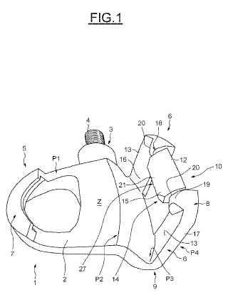 Pedal automático para velocípedos con palanca trasera flexible.