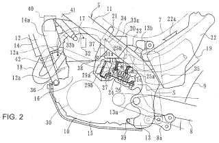 Disposición de dispositivos eléctricos en una motocicleta.