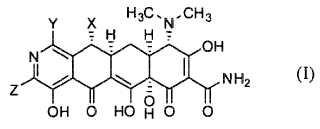 Compuestos de 8-aza-tetraciclina.