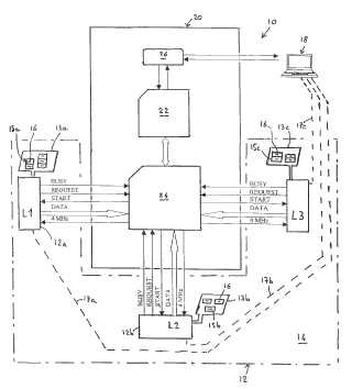 Procedimiento de gestión de una pluralidad de lectores de fichas con chip electrónico y equipos de puesta en práctica de dicho procedimiento.