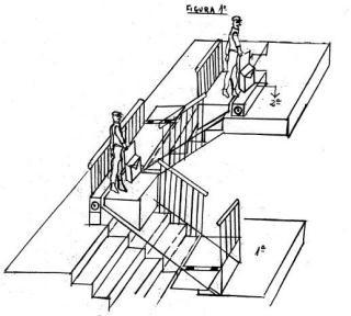 Sistema para elevaci n de personas y cosas en planos for Planos de escaleras en u