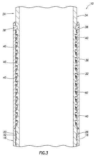Trinquete de perforación lisa para extensión del receptáculo de retenida.