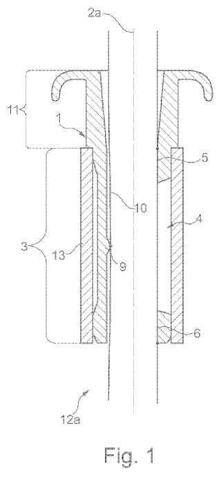 Funda para el montaje de un reposacabezas sobre un respaldo de asiento de vehículo a motor.