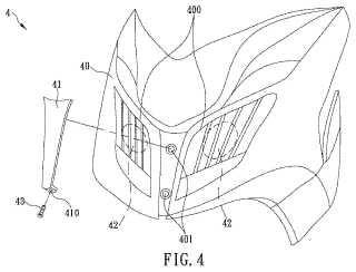 Estructura de cubierta para faro de motocicleta.
