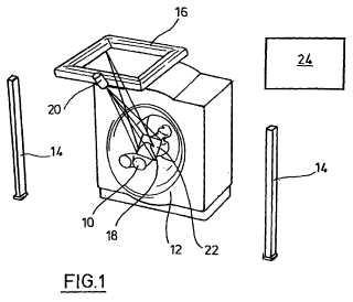 Dispositivo y procedimiento para el marcado de un campo de irradiación sobre la superficie del cuerpo de un paciente.