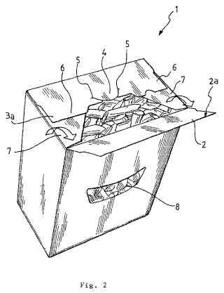Sistema de cierre reutilizable fácil para un envase de productos alimenticios secos y envase relacionado.
